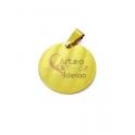 Pendente Aço Inox Amo-te - Dourado (20mm)