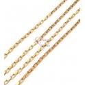 Corrente Aço Inox Elo Retangular (5x3mm) - Dourado [1metro]