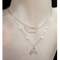 Fio Aço Inox Duplo Pearl Simplicity [Meia Lua] - Prateado