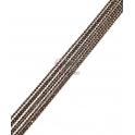 Corrente Preto com Reflexos Dourados (1mm) - [97cm]