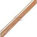Corrente Rosa Nude com Reflexos Dourados (1mm) - [97cm]