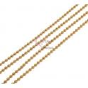 Corrente Aço Inox Bolinha (2mm) - Dourado [1metro]