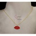 Fio Aço Inox Red Lips / Kiss - Dourado