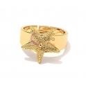 Anel Ajustável Deluxe [Estrela do Mar] - Dourado