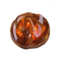 Conta Bolacha Abaulada Brown (20 mm)