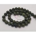 Fiada de Pedras Verde Escuro Baço (8mm)