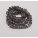 Fiada Contas de Cristal Facetadas - Cinza e Violeta (6x5mm)