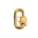 Fecho Rosca AQ Oval Liso - Dourado (20x12mm)