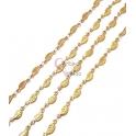 Corrente Aço Inox Folhinhas - Dourado [97cm]