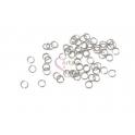 Argolas Aço Inox 3mm - Prateadas (Aprox 50und)