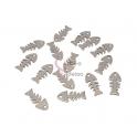 Conjunto Pendentes Aço Inox Peixe Espinha - Prateado (18x8mm) - [20unds]