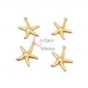 Conjunto Pendentes Aço Inox Estrela do Mar - Dourado (18x15mm) - [4unds]