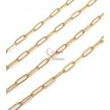 Corrente Aço Inox Elo Fino (12x4) - Dourado [97cm]