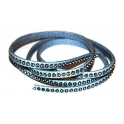 Cabedal Plano c/ Strass - Light Blue/Grey (5 mm)