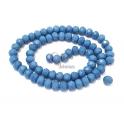 Fiada Contas Cristal Azul Cobalto Opaco (8x6mm)