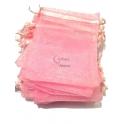Conjunto Saco Organza Rosa (11x9cm) - [100und]