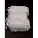 Conjunto Saco Organza Branco (11x9cm) - [100und]