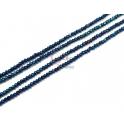 Fiada Contas de Cristal Azul Metalizado (2mm) - [34cm]
