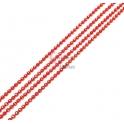 Corrente Vermelha com Reflexos Dourados (1mm) - [97cm]