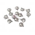 Conjunto Pendentes Aço Inox Peixe 3D - Prateado (13x12mm) - [14unds]