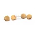 Base de Brincos Redonda - Dourado (10mm) [2 pares]