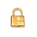 Pendente Aço Inox Cadeado Liso - Dourado (23x15mm)