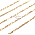 Corrente Aço Inox Malha Extensora - Dourado [98cm]