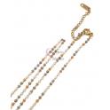 Fio Aço Inox Completo Missanga Japonesa [Tons dourado, cinza e branco] - Dourado [45cm]