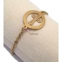 Pulseira Aço Inox Sophistry Collection [Redondo com Cruz] - Dourado