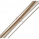Corrente Creme Escuro com Reflexos Dourados (1mm) - [97cm]