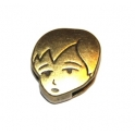 Conta Metal Rosto Menino - Bronze (13 x 2)