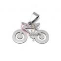 Pendente Aço Inox Bicicleta - Prateado (17x25mm)