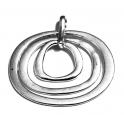 Pendente Metal 3 Argolas - Prateado (50 x 60)