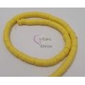 Fiada de Discos de Silicone [Amarelo Limão] - 6mm