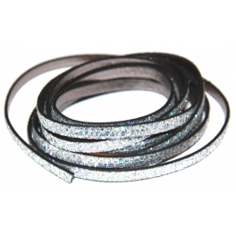 Cabedal Plano Silver Glitters (5 mm)
