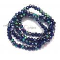 Fiada Contas de Cristal Facetadas - Azul AB Esverdeado (4mm)