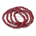 Fiada Contas de Cristal Facetadas - Vermelho AB (4mm)