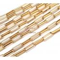 Corrente Aço Inox Elo Rectangular [14x5] - Dourado [97cm]