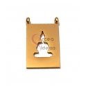 Conector Aço Inox Rectangular Recorte Yoga - Dourado (20x13mm)