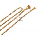Fio Aço Inox Completo Malha Fechada Fina (1mm) - Dourado [45cm]
