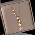 Fio Aço Inox Queda de Estrelas com Estrela Brilhante - Dourado