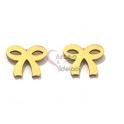 Brincos Aço Inox Laço - Dourado (8x10mm)