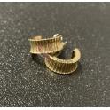 Brincos Deluxe Argolas Vertical Strip - Dourado