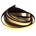 Cabedal Plano Liso Metal Gold (10 x 2)