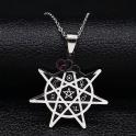 Fio Aço Inox Gotic Pentagrama - Prateado