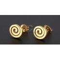 Brincos Aço Inox Espiral - Dourado
