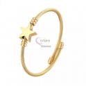 Pulseira Aço Inox Twist Estrela - Dourada