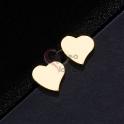 Brincos Aço Inox Corações - Dourado