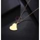 Fio Aço Inox Coração - Dourado