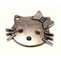 Pendente Metal Helllo Kitty - Prateado (25 x 22)